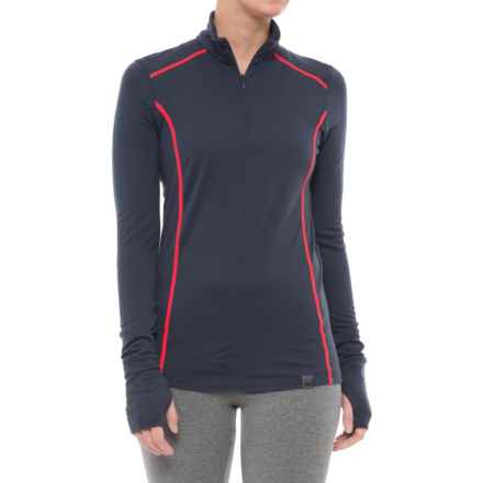 Helly Hansen HH Merino Mid Base Layer Top - Merino Wool, Zip Neck, Long Sleeve  (For Women) in Graphite Blue - Closeouts