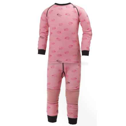 Helly Hansen HH Warm LIFA® Base Layer Set - Merino Wool, 2-Piece (For Little Kids) in Dusty Powder Print - Closeouts