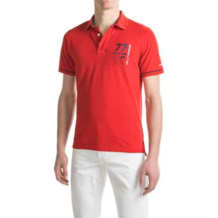 Helly Hansen HP Club Polo Shirt - Short Sleeve (For Men) in Flag Red - Closeouts