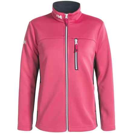Helly Hansen Jr. Crew Fleece Jacket (For Big Kids) in Magenta - Closeouts