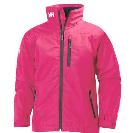 Helly Hansen Jr. Crew Midlayer Jacket - Waterproof (For Big Kids) in Magenta - Closeouts