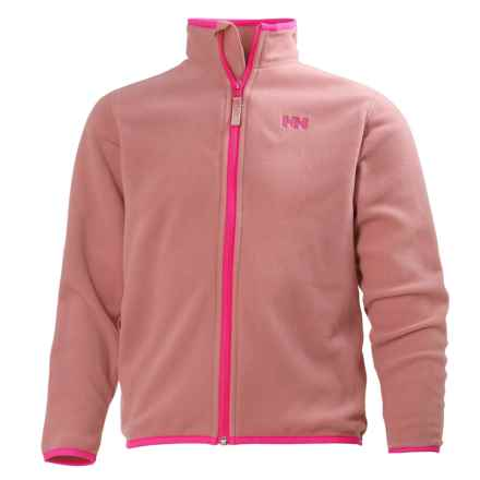 Helly Hansen Jr. Daybreaker Polartec® Fleece Jacket - Full Zip (For Big Kids) in Dusty Powder - Closeouts