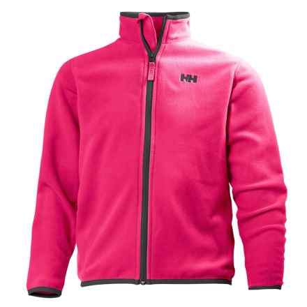Helly Hansen Jr. Daybreaker Polartec® Fleece Jacket - Full Zip (For Big Kids) in Magenta/Black - Closeouts