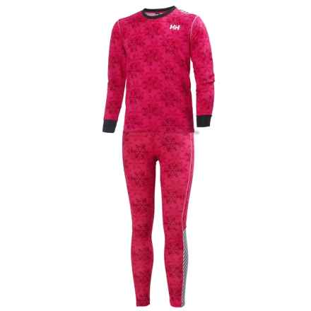 Helly Hansen Jr. LIFA® Active Base Layer Set - Long Sleeve (For Big Kids) in Magenta Print - Closeouts