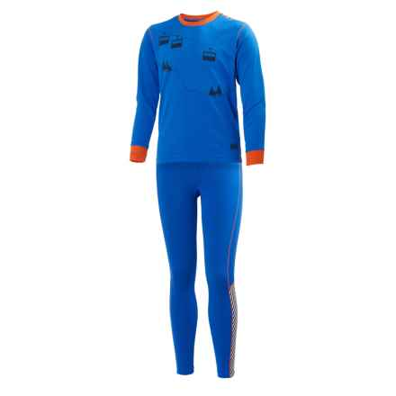 Helly Hansen Jr. LIFA® Active Base Layer Set - Long Sleeve (For Big Kids) in Racer Blue/Evening Blue - Closeouts