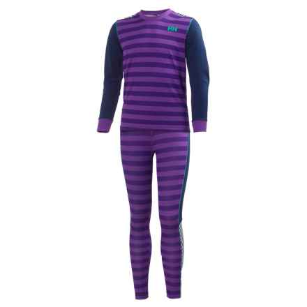 Helly Hansen Jr. LIFA® Active Base Layer Set - Long Sleeve (For Big Kids) in Sunburned Purple Classic - Closeouts