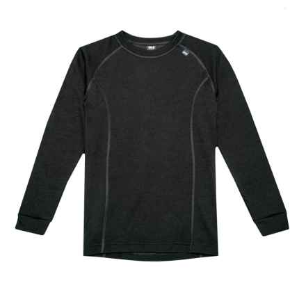 Helly Hansen Jr. LIFA® Base Layer Top - Crew Neck, Long Sleeve (For Big Kids) in Black - Closeouts