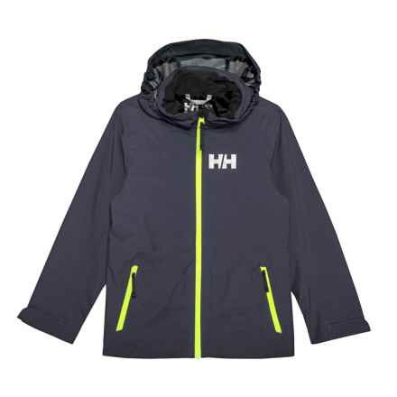 Helly Hansen Jr. Rigging Rain Jacket - Waterproof (For Big Kids) in Graphite Blue - Closeouts
