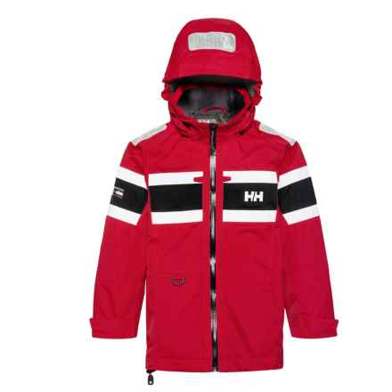 Helly Hansen Jr. Salt Jacket - Waterproof (For Big Kids) in Red - Closeouts