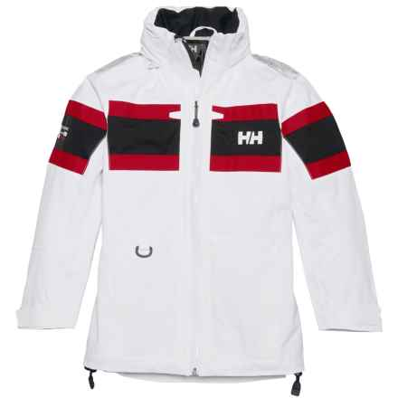 Helly Hansen Jr. Salt Jacket - Waterproof (For Big Kids) in White - Closeouts