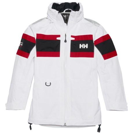 Helly Hansen Jr. Salt Jacket - Waterproof (For Big Kids) in White