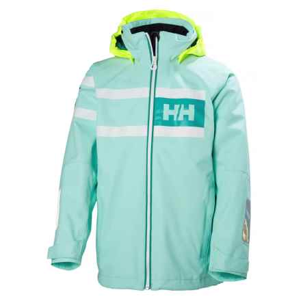 Helly Hansen Jr. Salt Power Jacket - Waterproof (For Big Kids) in Blue Tint - Closeouts