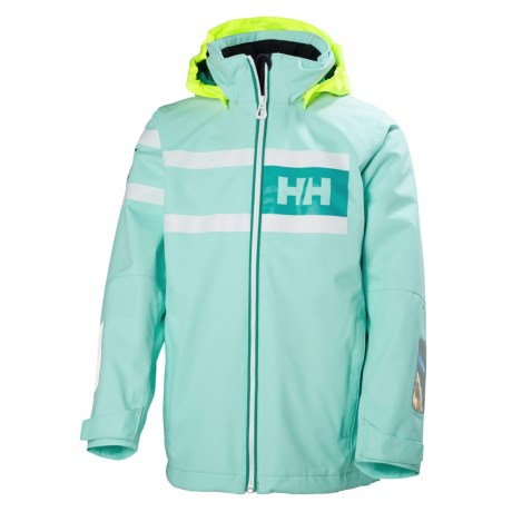 Helly Hansen Jr. Salt Power Jacket - Waterproof (For Big Kids) in Blue Tint