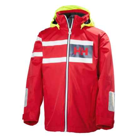 Helly Hansen Jr. Salt Power Jacket - Waterproof (For Big Kids) in Flag Red - Closeouts