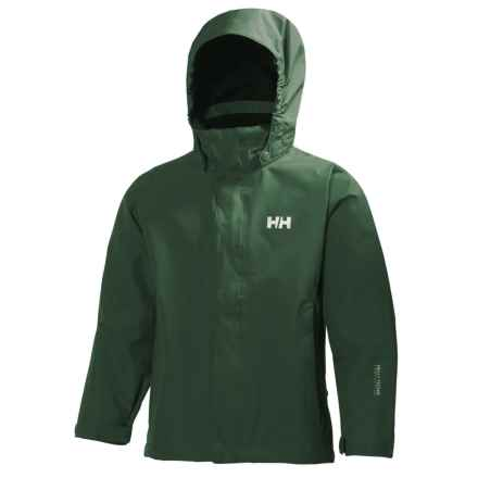 Helly Hansen Jr. Seven J Jacket - Waterproof (For Big Kids) in Jungle Green - Closeouts