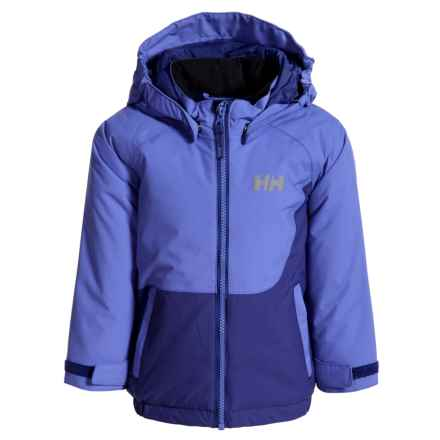 Helly Hansen K Cover PrimaLoft® Jacket - Waterproof, Insulated (For Little Kids) in Sweet Lilac - Closeouts