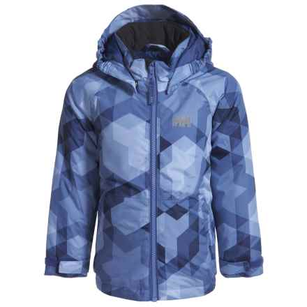 Helly Hansen K Cover Printed PrimaLoft® Jacket - Waterproof, Insulated (For Little Kids) in Sweet Lilac - Closeouts