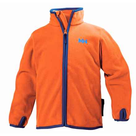 Helly Hansen K Daybreaker Polartec® Fleece Jacket (For Little and Big Kids) in Magma - Closeouts