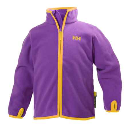 Helly Hansen K Daybreaker Polartec® Fleece Jacket (For Little and Big Kids) in Sunburned Purple - Closeouts
