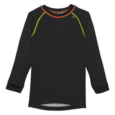 Helly Hansen K LIFA® Base Layer Top - Merino Wool, Crew Neck, Long Sleeve (For Little and Big Kids) in Black - Closeouts