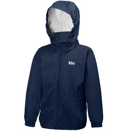 Helly Hansen K Loke Packable Jacket - Waterproof (For Little Kids) in Evening Blue - Closeouts