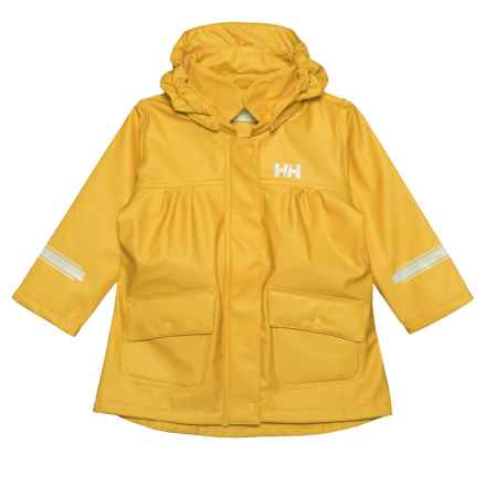 Helly Hansen K Maren Rain Jacket - Waterproof (For Little and Big Kids) in Young Yellow - Closeouts