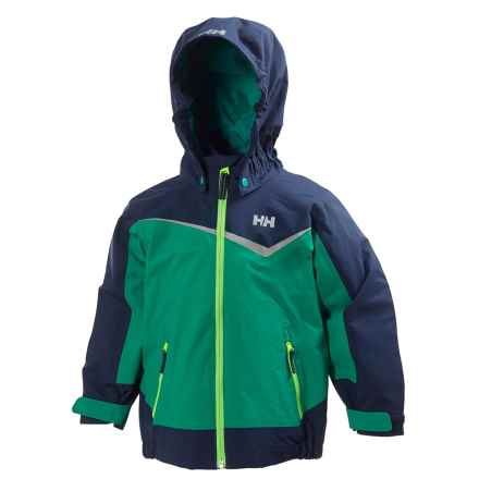 Helly Hansen K Shelter Jacket (For Little Kids) in Bright Green - Closeouts