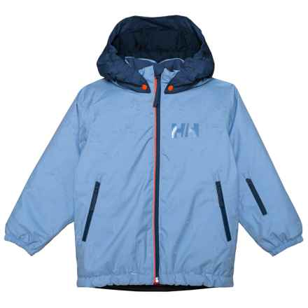 Helly Hansen K Snowfall Print Ski Jacket - Waterproof, Insulated (For Little and Big Kids) in Blue Horizon - Closeouts