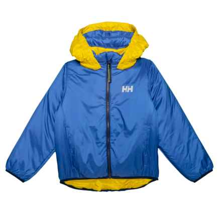Helly Hansen K Synergy Jacket - Insulated, Reversible (For Little and Big Kids) in Olympian Blue - Closeouts