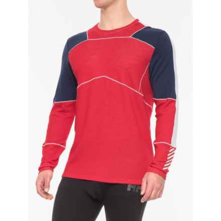 Helly Hansen LIFA® Base Layer Top - Merino Wool, Long Sleeve (For Men) in Flag Red - Closeouts