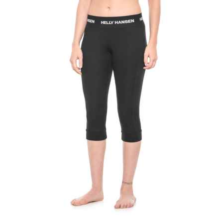 Helly Hansen LIFA® Cropped Base Layer Pants - Merino Wool (For Women) in Black - Closeouts