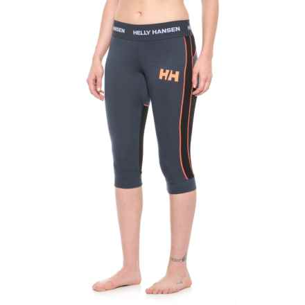 Helly Hansen LIFA® Hybrid Cropped Boot Base Layer Pants - Merino Wool (For Women) in Graphite Blue - Closeouts