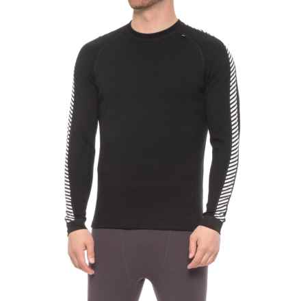 Helly Hansen LIFA® Merino Base Layer Top- Crew Neck, Long Sleeve (For Men) in Black - Closeouts