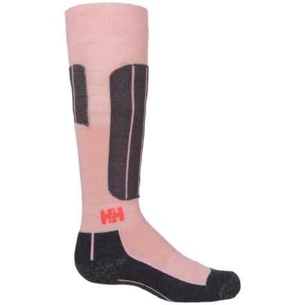Helly Hansen LIFA® Merino Blue Alpine Ski Socks - Merino Wool, Crew (For Kids) in Blush - Closeouts