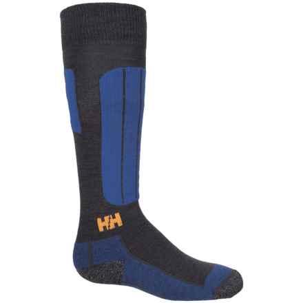 Helly Hansen LIFA® Merino Blue Alpine Ski Socks - Merino Wool, Crew (For Kids) in Graphite Blue - Closeouts