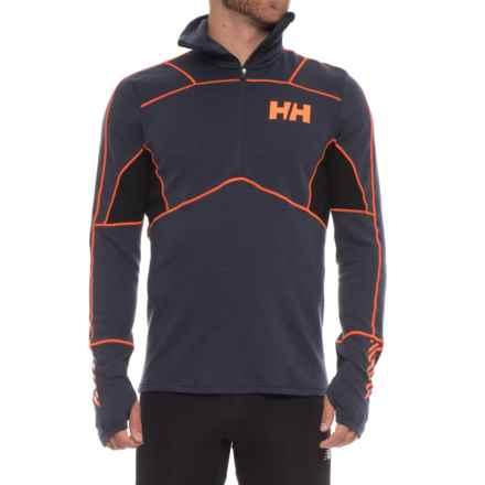 Helly Hansen LIFA® Merino Hybrid Base Layer Top - Merino Wool, Zip Neck, Long Sleeve (For Men) in Graphite Blue - Closeouts