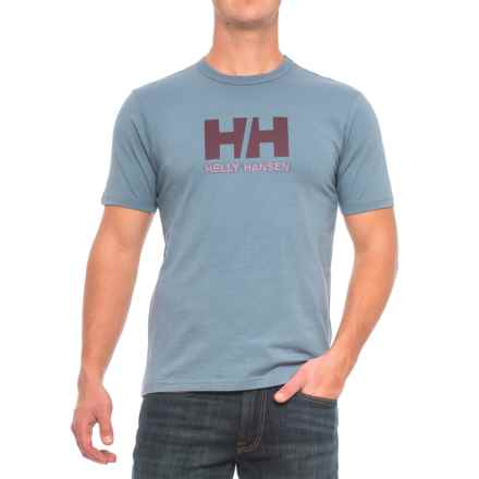 Helly Hansen Logo T-Shirt - Short Sleeve (For Men) in Blue Mirage - Closeouts