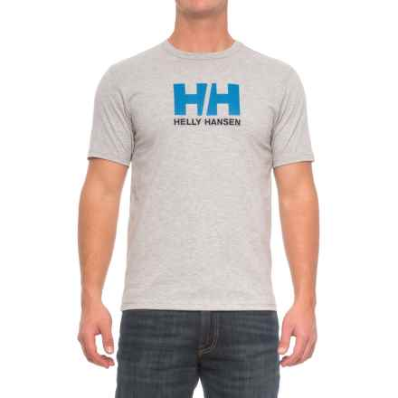 Helly Hansen Logo T-Shirt - Short Sleeve (For Men) in Grey Melange - Closeouts