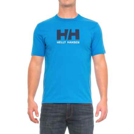 Helly Hansen Logo T-Shirt - Short Sleeve (For Men) in Racer Blue - Closeouts
