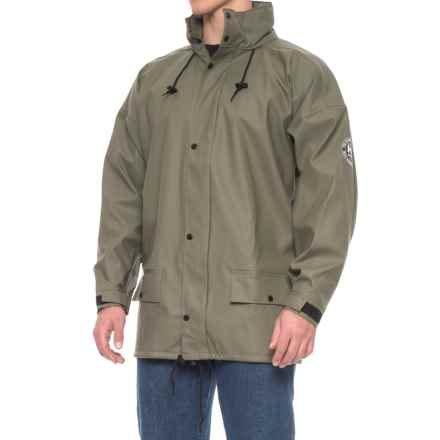 Helly Hansen Margaree Deluxe Work Rain Jacket - Waterproof (For Men) in Green - Closeouts