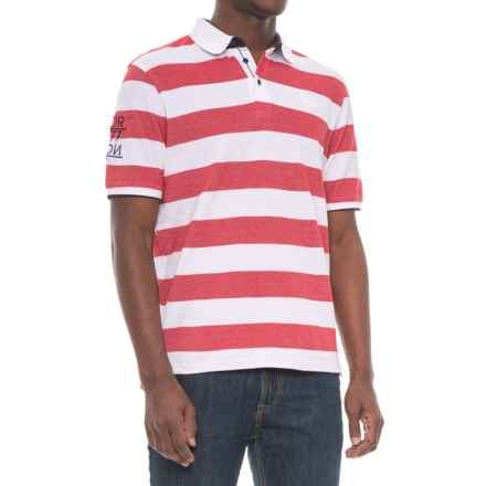 Helly Hansen Marstrand Polo Shirt - Short Sleeve (For Men) in Red Stripe - Closeouts