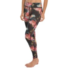 Helly Hansen Merino Wool Graphic Base Layer Bottoms (For Women) in Black Electric Print - Closeouts