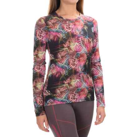 Helly Hansen Merino Wool Graphic Base Layer Top - Long Sleeve (For Women) in Black Electric Print - Closeouts