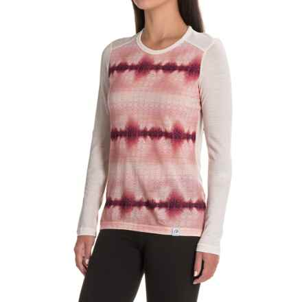Helly Hansen Merino Wool Graphic Base Layer Top - Long Sleeve (For Women) in White Lake - Closeouts