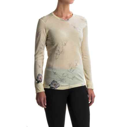 Helly Hansen Merino Wool Graphic Base Layer Top - Long Sleeve (For Women) in White Lilly - Closeouts