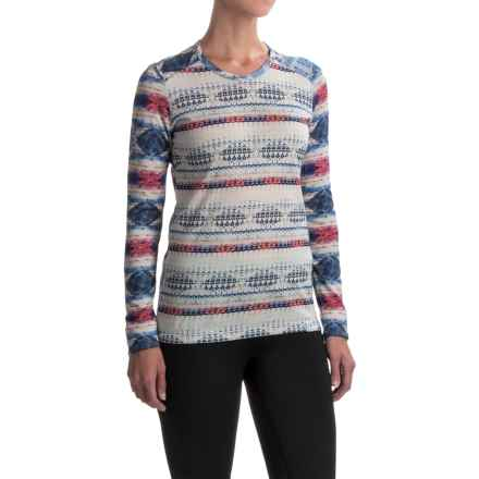 Helly Hansen Merino Wool Graphic Base Layer Top - Long Sleeve (For Women) in White Micro - Closeouts