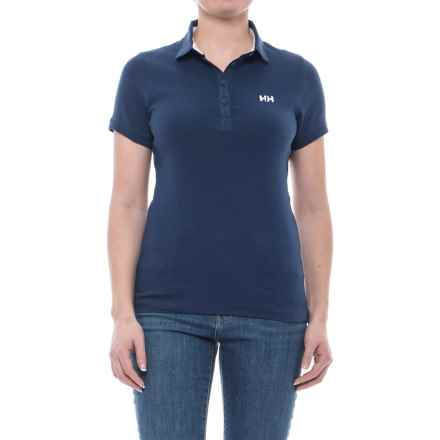 Helly Hansen Naiad Breeze Polo Shirt - Short Sleeve (For Women) in Evening Blue - Closeouts