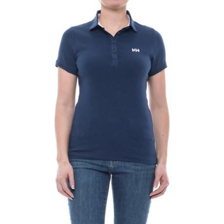 Helly Hansen Naiad Breeze Polo Shirt - Short Sleeve (For Women) in Evening Blue