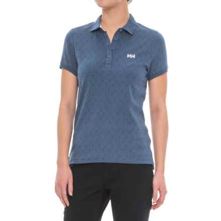 Helly Hansen Naiad Breeze Polo Shirt - Short Sleeve (For Women) in Marine Blue - Closeouts