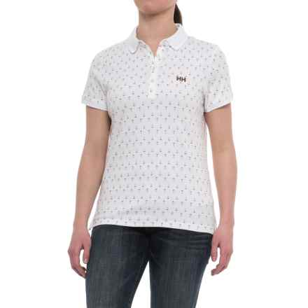 Helly Hansen Naiad Breeze Polo Shirt - Short Sleeve (For Women) in White Ancho - Closeouts